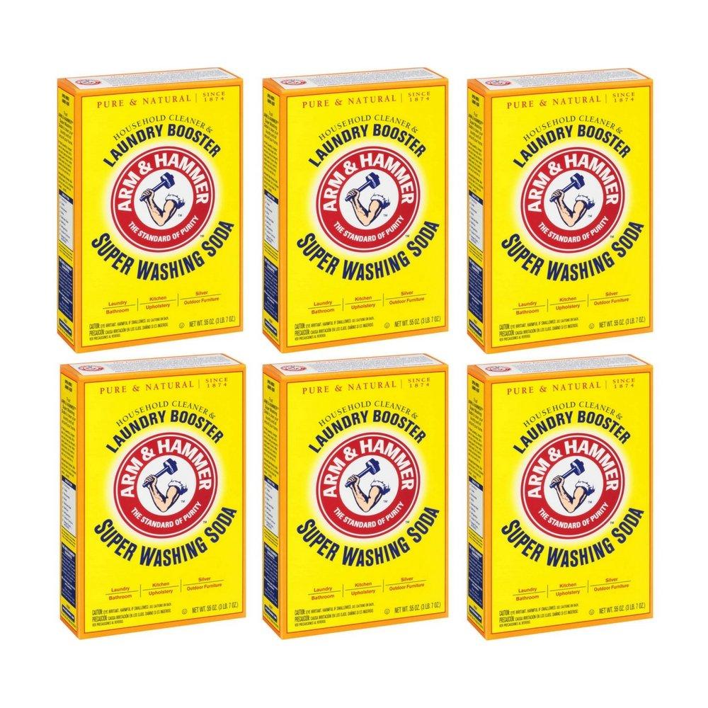 Arm & Hammer, Super Washing Soda Detergent Booster - 55 oz by Arm & Hammer (6pack)