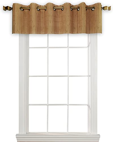 Versailles Home Fashions BPU147212-9 Bamboo Wood Valance with Grommets, 72 x 12 , Teak
