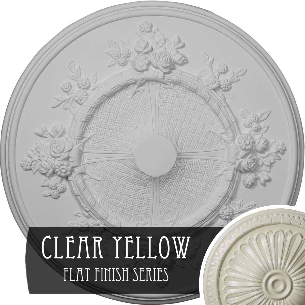 Ekena Millwork CM27FLCYF Ceiling Medallion, Clear Yellow