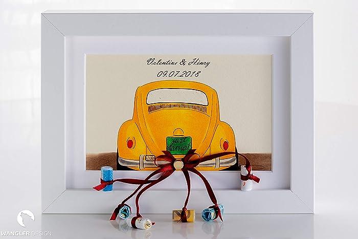 Geldgeschenk Zur Hochzeit Hochzeitsgeschenk Auto Bilderrahmen
