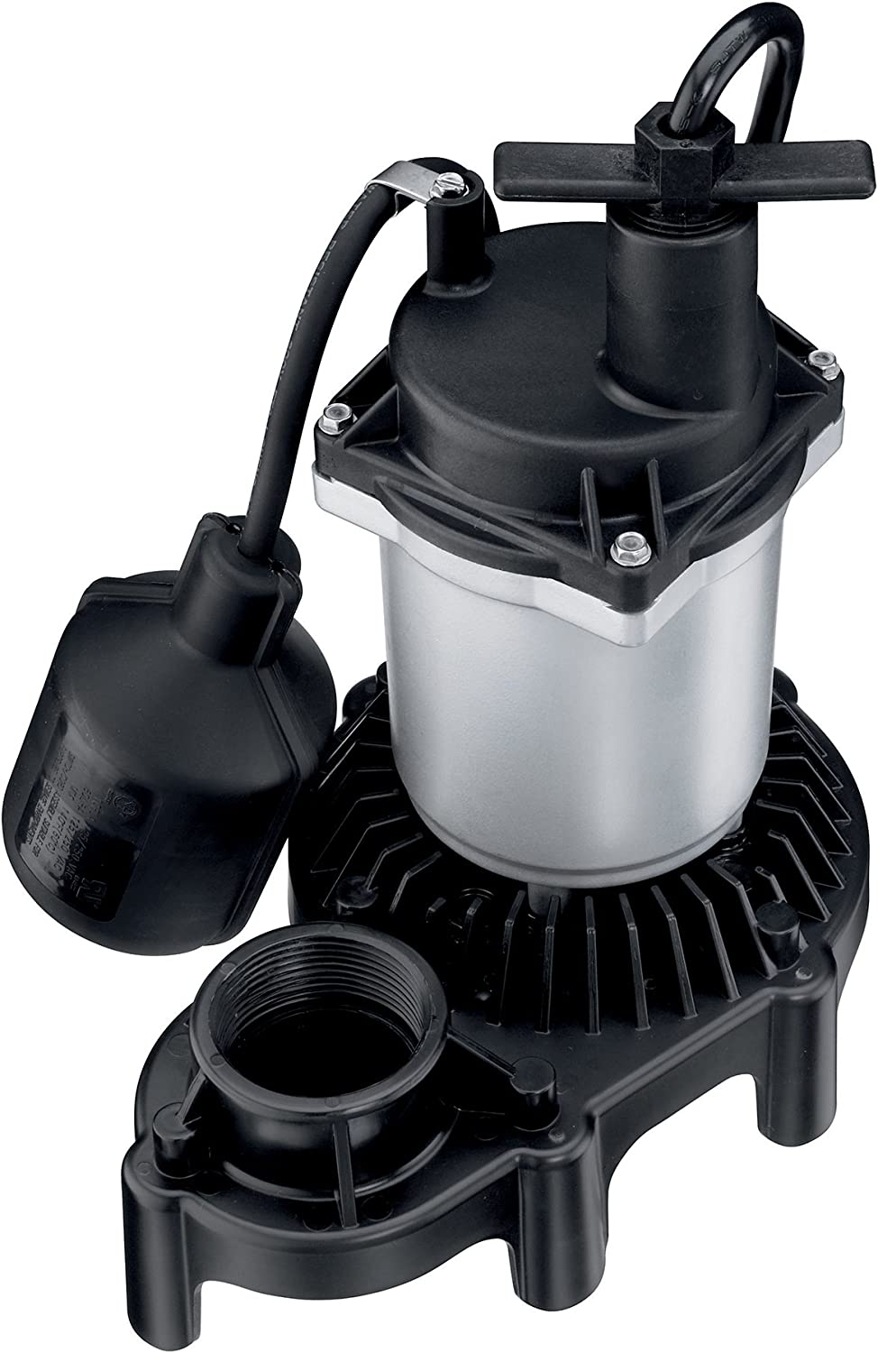 Flotec FPZS25T Submersible Sump Pump With Tethered float Switch, 3200 Gph, 1/4 Hp, 115 Vac, 15 A