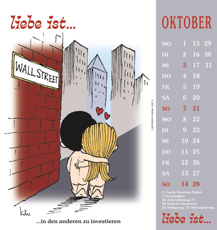 Liebe Ist 2018 Postkartenkalender 4002725950185 Amazoncom Books