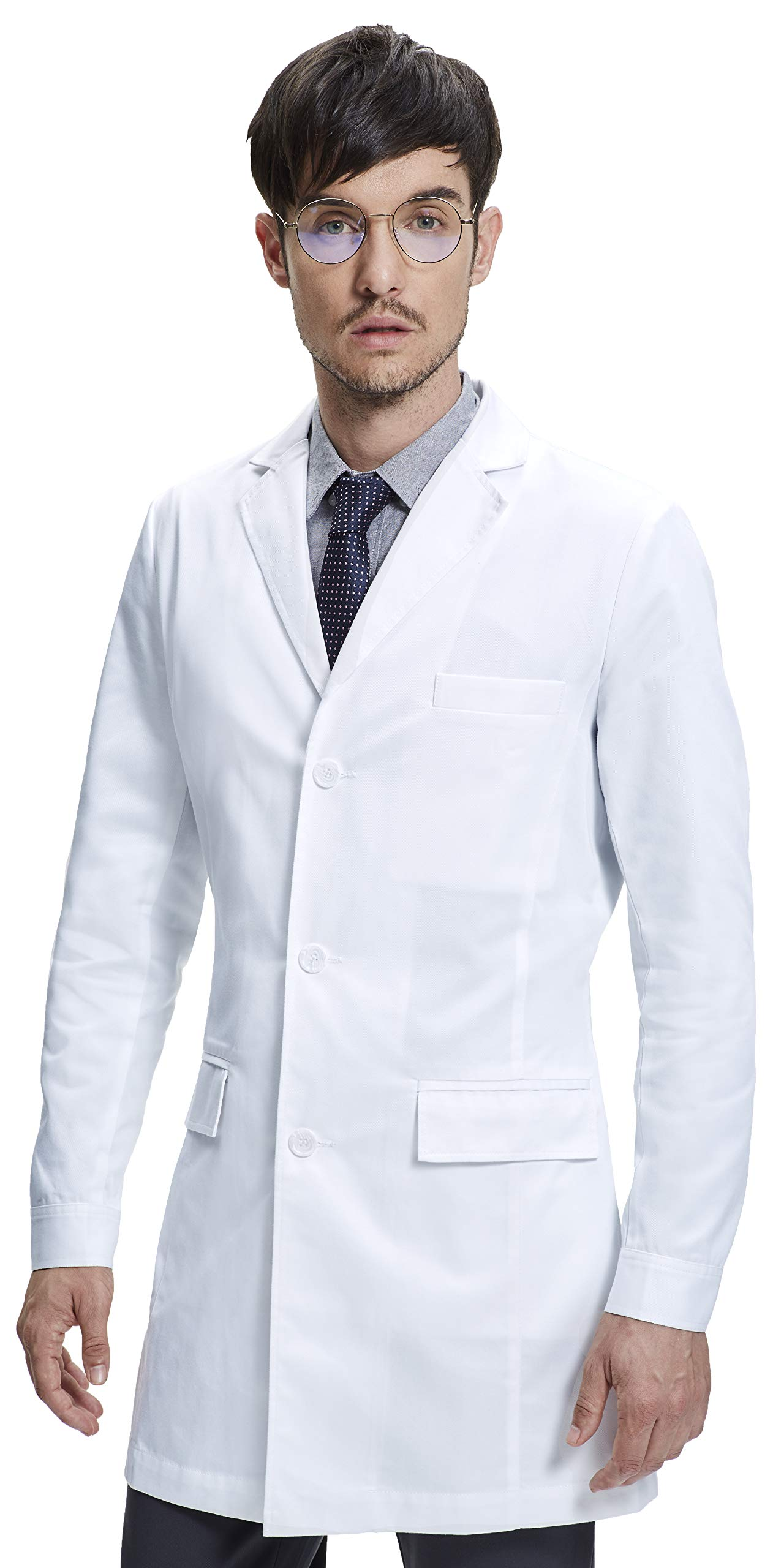 Dr. James Mens Tailored Fitted Consultation Lab Coat (36 Inch Length) Size S