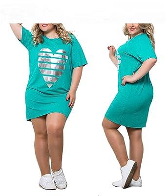 c1c08952785 Image Unavailable. Image not available for. Color  Baqijian Women Plus Size  Summer Dress ...
