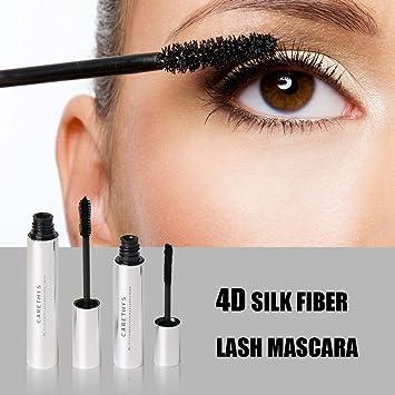 59ca1f4460f Amazon.com : 4D Silk Fiber Eyelash Mascara, Waterproof Mascara Cream,  Washable Eyelash Extension, Black Eyelash, Long Lasting for Crazy Long  Style By ...