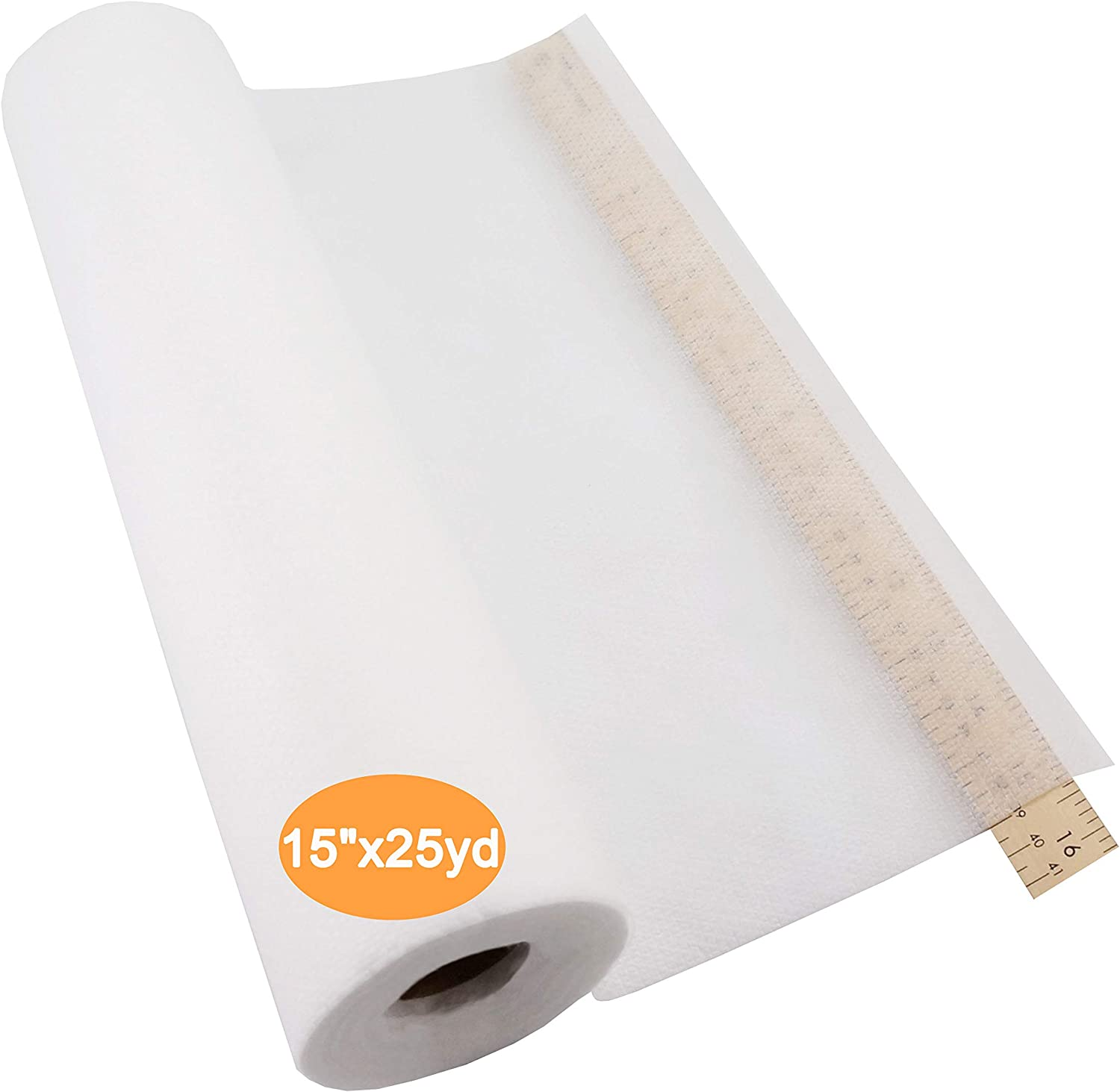 Cut into Any Sizes Medium Weight 1.8 oz for Machine Embroidery and Hand Sewing New brothread Tear Away Machine Embroidery Stabilizer Backing 20 x 25 Yd roll