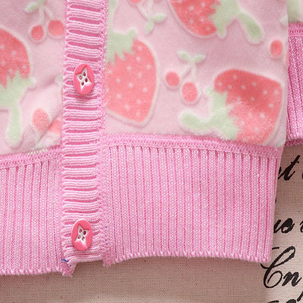XIYAO Baby Kinder Strickmantel Warme Jacke Winter Outwear f/ür Kleine M/ädchen Jungen