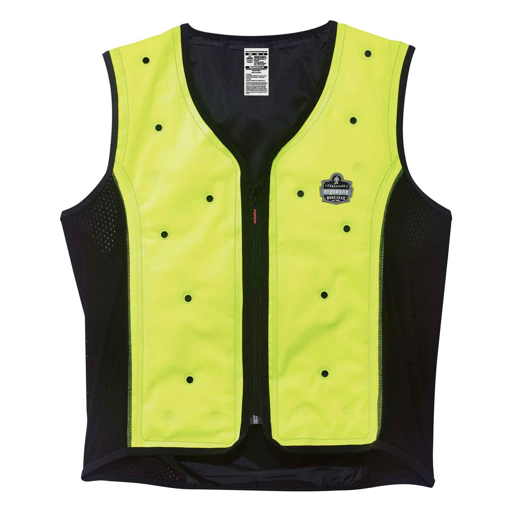 Evaporative Cooling Vest, Wearer Stays Cool and Dry, Breathable Comfort, Zipper Closure, Ergodyne Chill-Its 6685 by Ergodyne (Image #1)