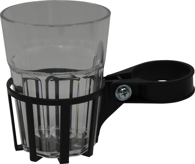 Angerer Soporte para bebidas para columpio Tubo cuadrado Incluye Taza, Farbe eisengrau, Becher durchsichtig 970/0003
