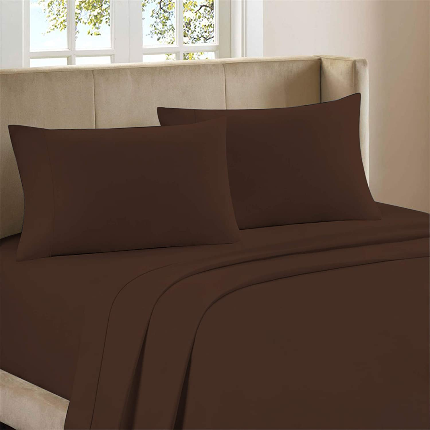 Bestselling Garment Washed Breathable Cotton 4-Piece Sheet Set, Artisan Percale Weave, Cool Comfort, Vintage Casual Look, 100% Natural Cotton, Deep Pockets Upto 18