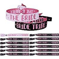 MEJOSER 12pcs Pulseras The Bride + Bride Tribe Equipo de Novia para Despedida de Soltera Boda Decoración Disfraces…