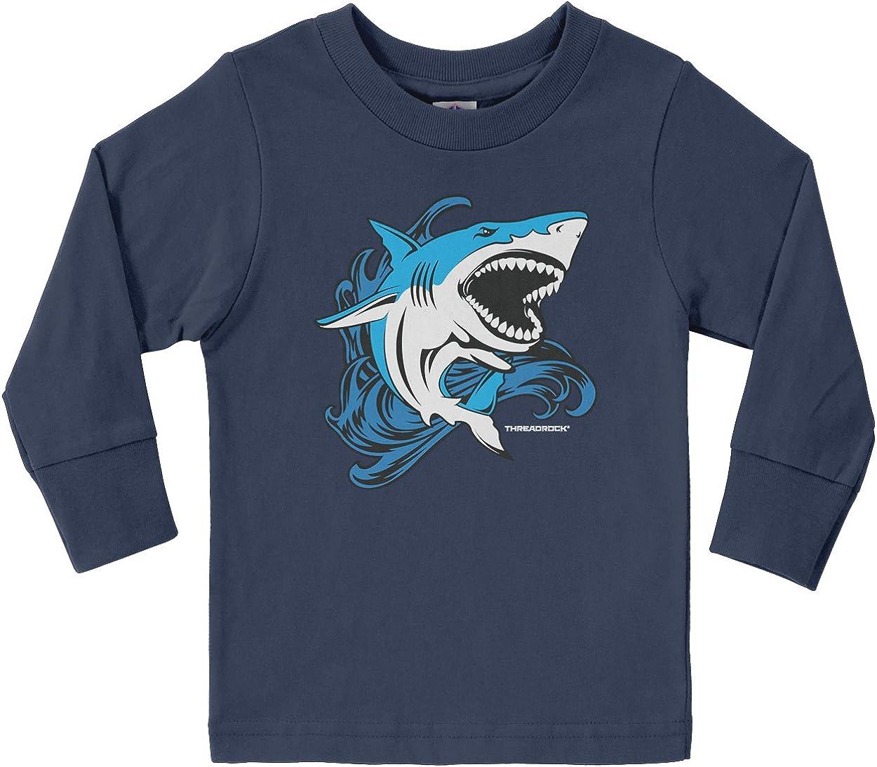 Threadrock Little Boys' Shark Toddler Long Sleeve T-Shirt