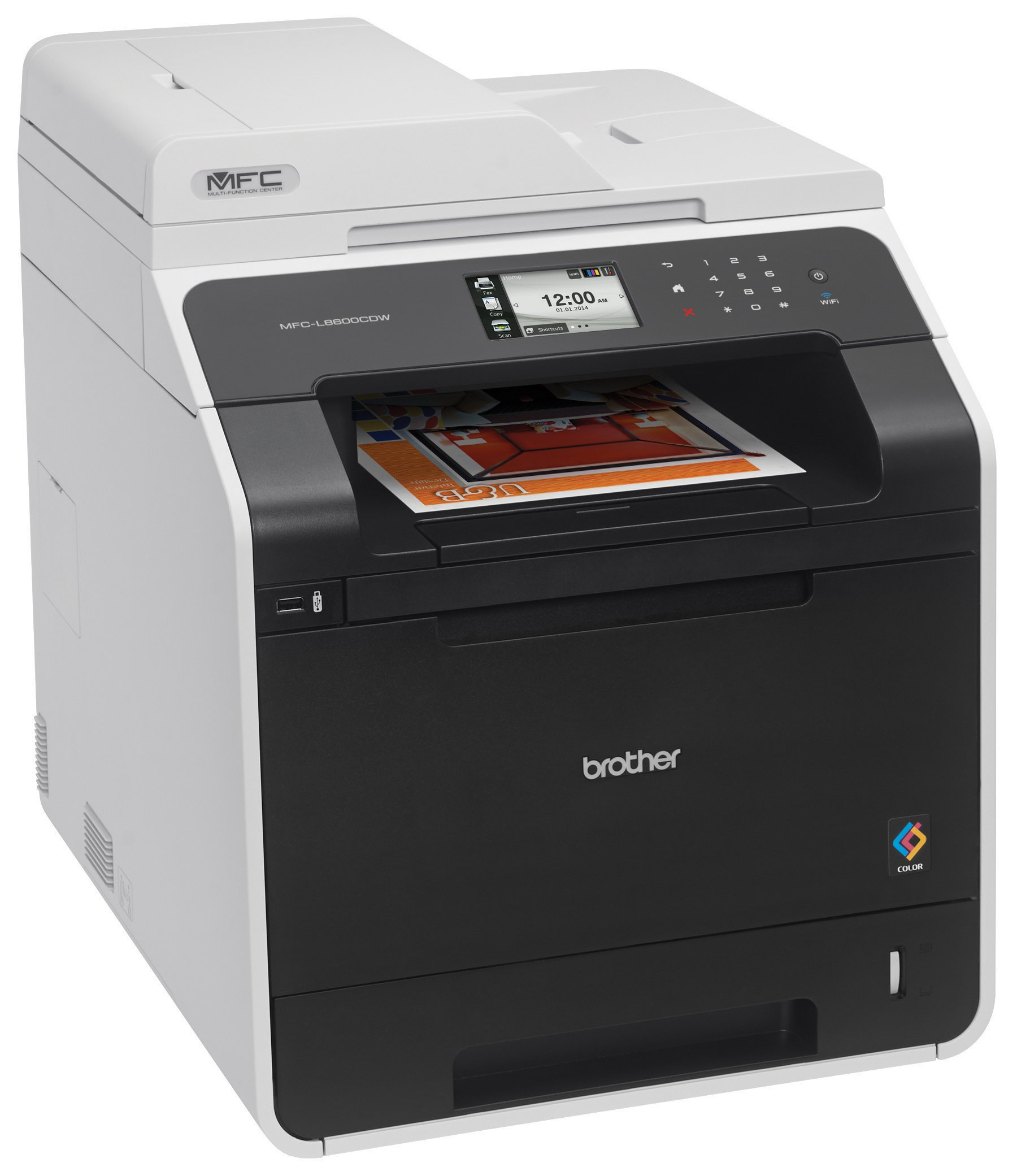 Brother Printer MFCL8600CDW Wireless Color Printer with Scanner, Copier and Fax, Amazon Dash Replenishment Enabled