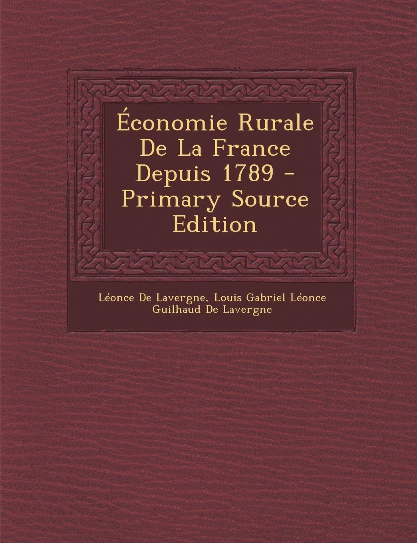 Economia Rurale Della Francia Dal 1789