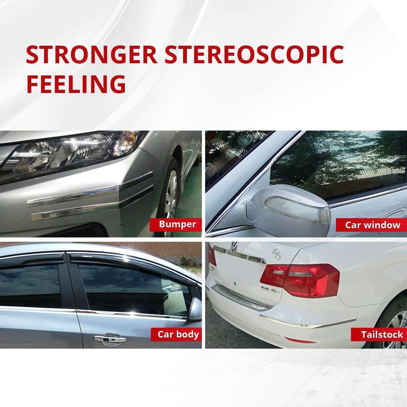 25mm x 5m AUXMART Chrome Silver Strip Universal fit for Most Cars Trucks SUVs