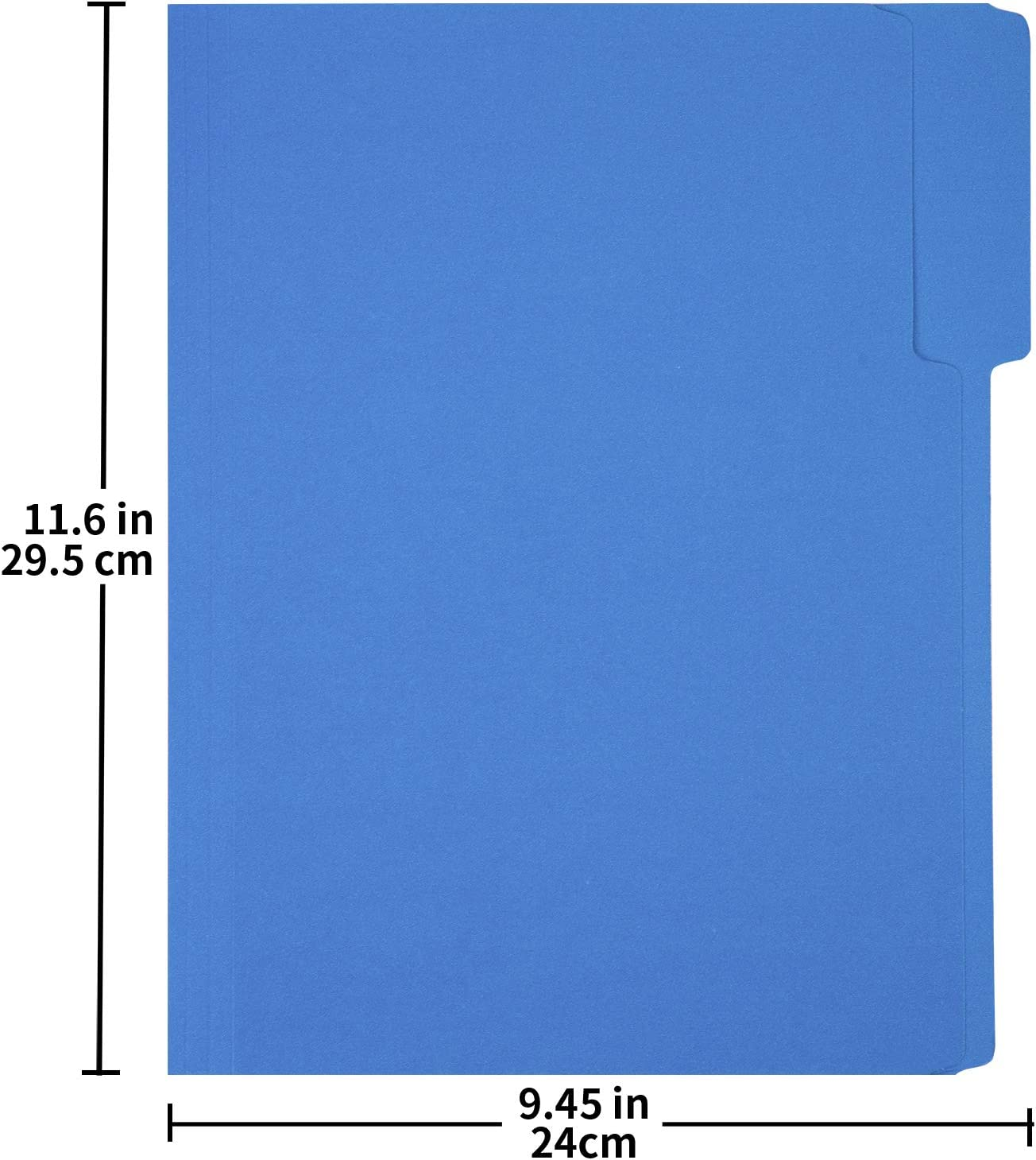 Basics 3 Tab Heavyweight Manila File Folders, Letter Size, Assorted Colors, 50/Box : Office Products