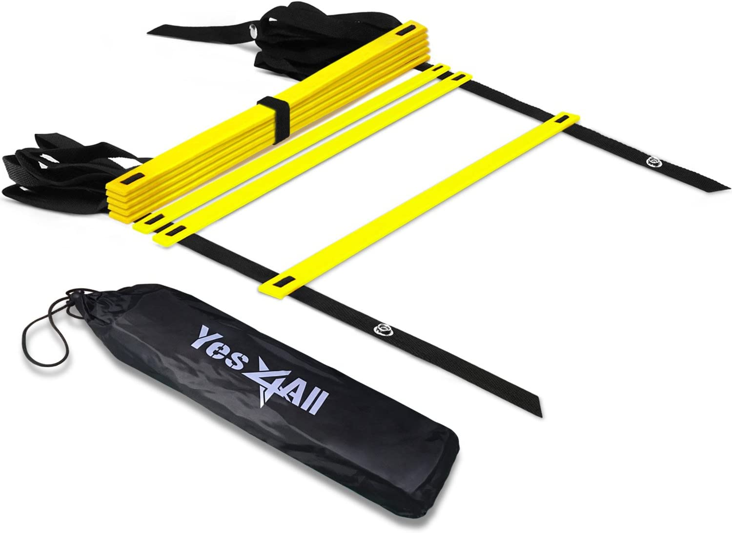 Yes4All Speed Agility Ladder with Carry Bag – Multi Choice: 8, 12, 20 Rung
