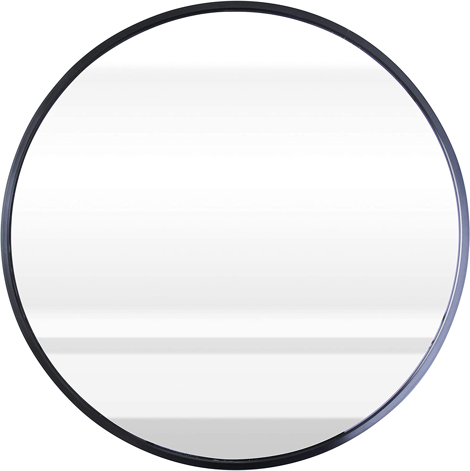 """ABZQH Round Mirror for Wall, 19.7"""" Black Circle Mirror Large Wall-Mounted Aluminum Alloy Frame Decorative Mirror for Bathroom Vanity Entryways Wall Decor"""