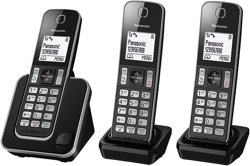 Teléfono inalámbrico digital Panasonic kx-tgd313ed con Nuisance Call Control, Triple DECT