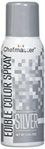Chefmaster Edible Spray Cake Decorating Color 1.5oz Can - Metallic Silver