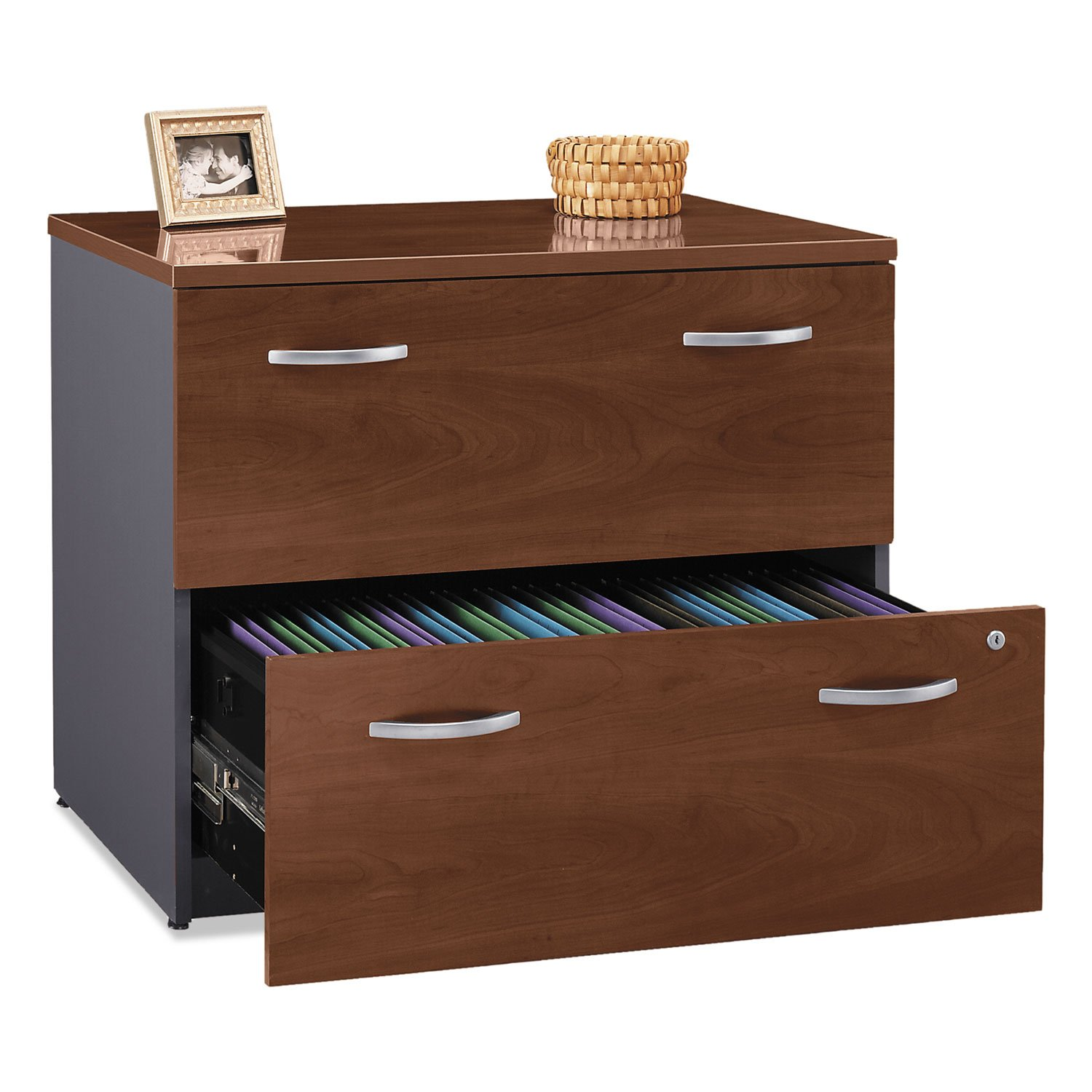 Bush WC24454ASU Series C Collection 2 Drawer 36W Lateral File (Assembled), Hansen Cherry
