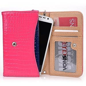 Exxist Classy Women's Wristlet Phone Accessory Wallet Purse Clutch Fits Huawei P9   P8 Lite