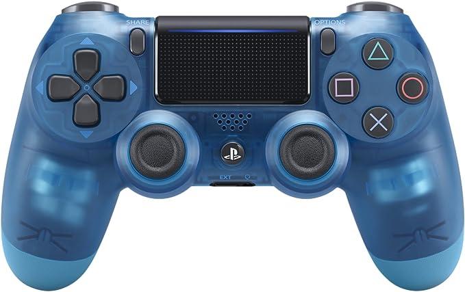 Amazon ワイヤレスコントローラー Dualshock 4 ブルー クリスタル コントローラー ハンドル ジョイスティック