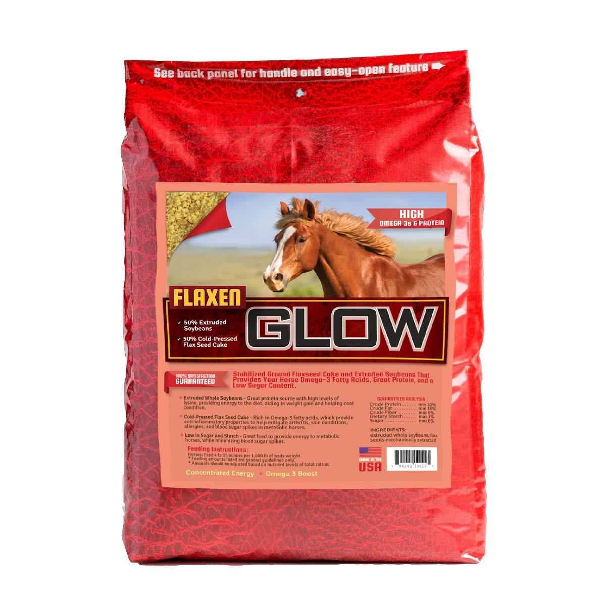 Glow Extruded Soybeans High-Fat Supplement 40 lbs Bag by Horse Guard