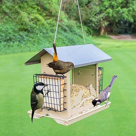 Salvaje Pájaro Alimentador Casa Del Pájaro Alimentación Al Aire Libre Observación De Aves Villa Hortícola Jardín Pájaro Automático Alimentador. Cacoffay: Amazon.es: Deportes y aire libre
