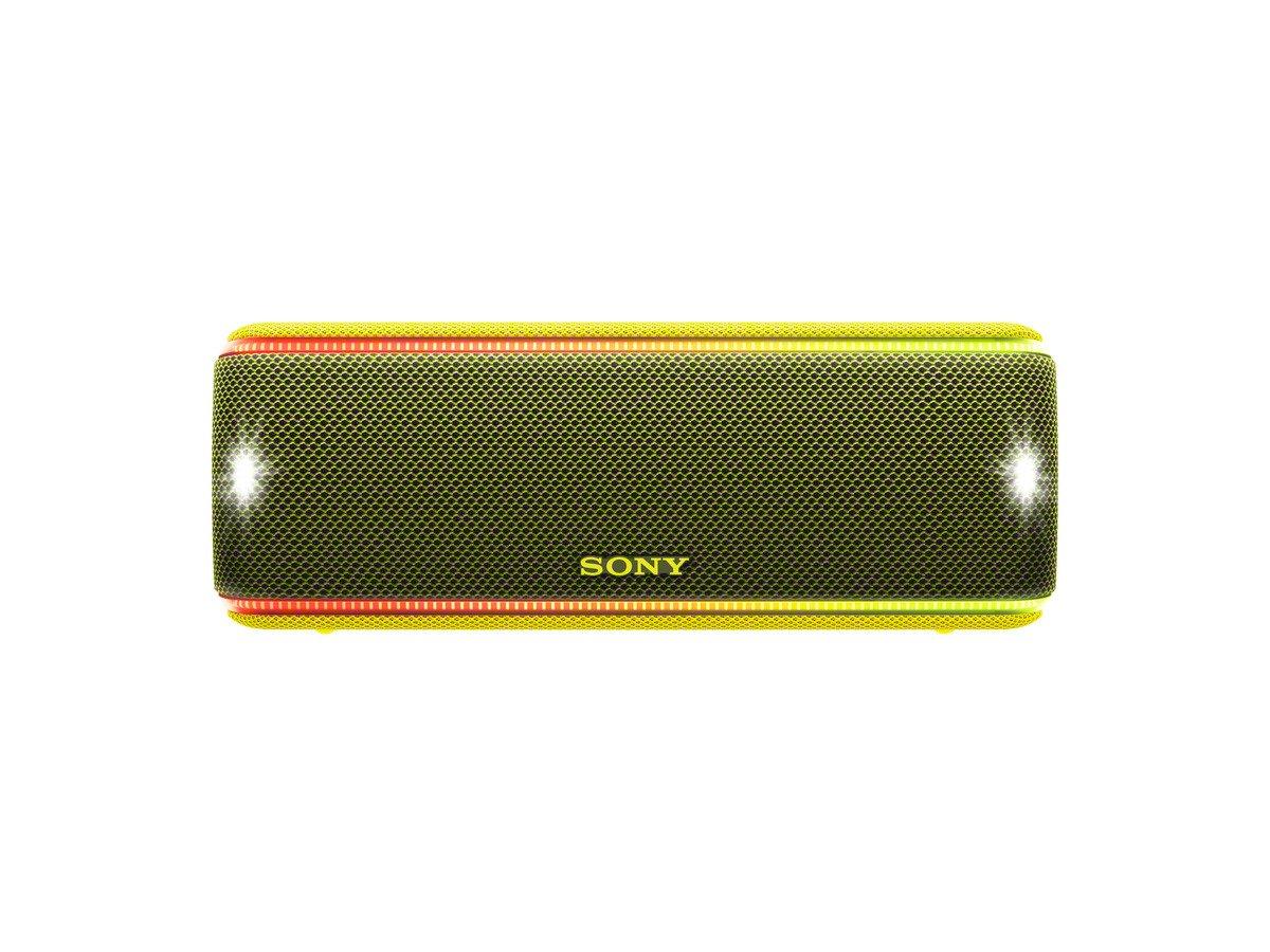 Sony SRSXB31Y - Altavoz portátil Bluetooth (Extra Bass, Modo Sonido Live, Party Booster, Luces de Fiesta llamativas, Conector USB para Cargar Smartphone), Color Amarillo