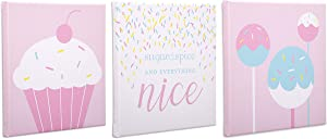 Delta Children 3-Piece Canvas Wall Art Set for Girls 12