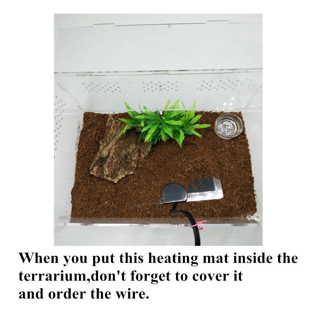 AIICIOO Calefactor para Reptiles y Anfibios a Prueba de Humedad Fácil de Limpiar con Controlador de Temperatura (20w 42x28 cm): Amazon.es: Productos para ...