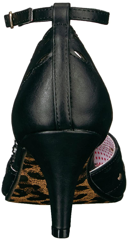 Bettie Page Women's Bp310-Raine Spectator Pump B06XP1V5PX 8 M US|Black