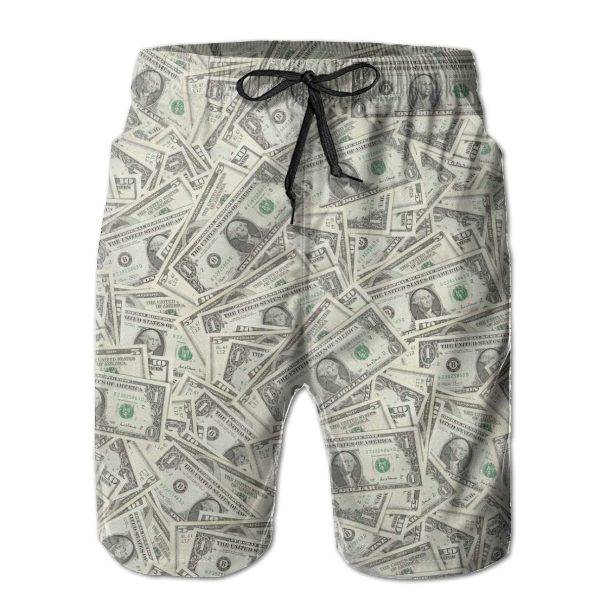 FUNSTYEET Money Money Money Mens Board Shorts Swim Mesh Lining and Side Pocket