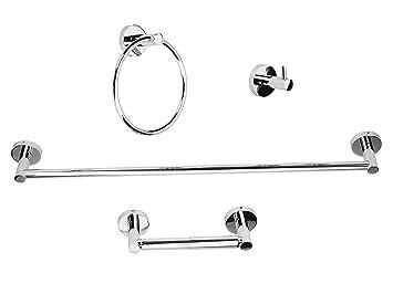 Luckup - Conjunto de 4 accesorios para baño de acero ...