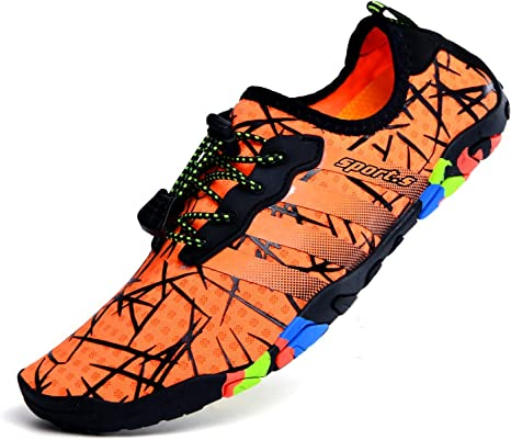 Li - Zapatillas de natación de Cinco Dedos, Correas Antideslizantes para Escalada al Aire Libre, Sandalias Transpirables, Naranja, 37: Amazon.es: Deportes y aire libre