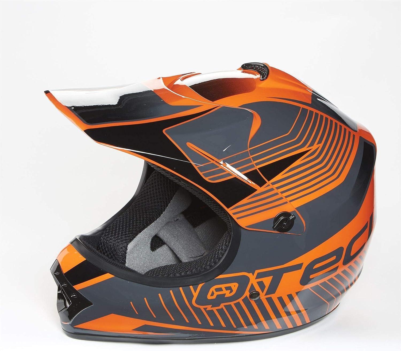 Rosso 57-58cm L Casco Motocross per Bambino Moto Cross Enduro ATV MX BMX Quad Nero Bianco