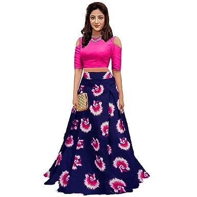 a18c5c3341 HA FASHION Women's Silk Lehenga Choli (gulabo, Pink, Free Size): Amazon.in:  Clothing & Accessories