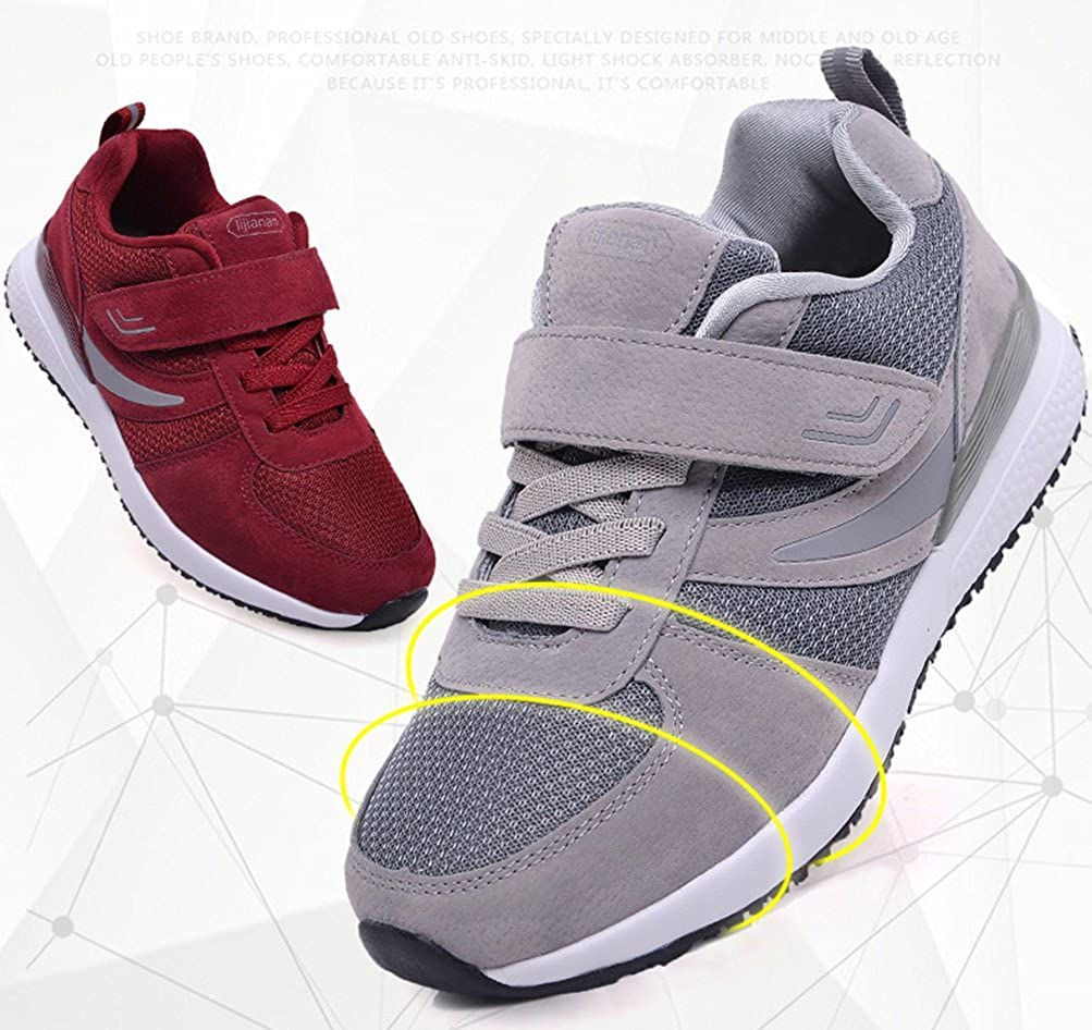 2f186639555 Scennek Middle-Aged Men and Women Non-Slip Wear-Resistant Healthy Walking  Shoes Sports Shoes  Amazon.co.uk  Shoes   Bags