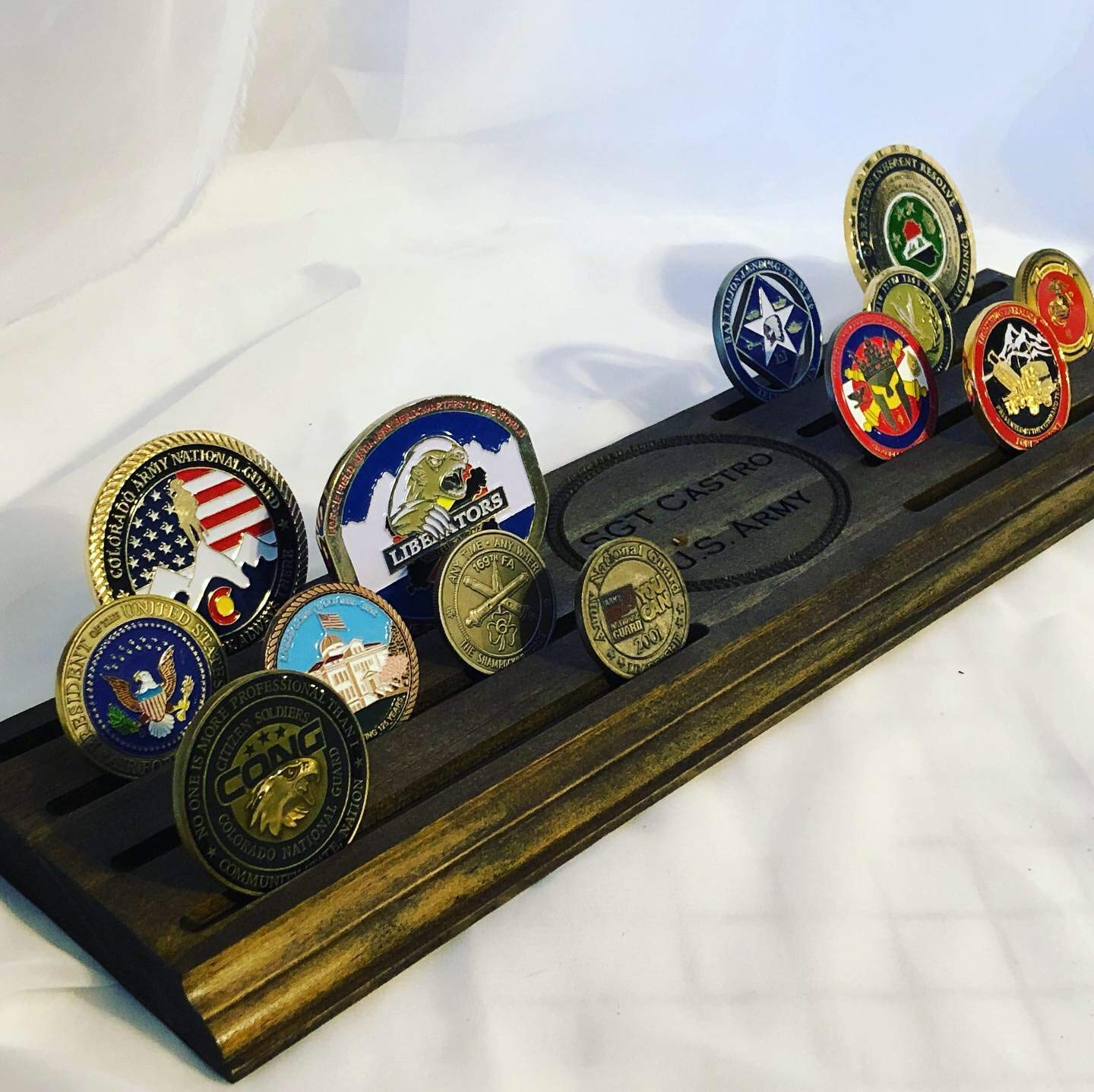3.5 6 row Personalized Challenge Coin Holder