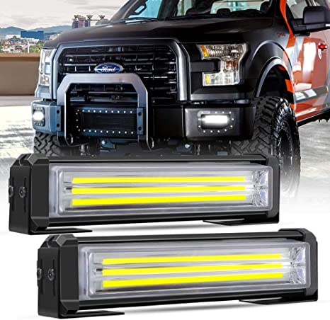 Led Strobe Light Bar Mesllin 40w Set 6 Car Enforcement Emergency Hazard Warning Mini Flasher Snow Plow Safety Strobe Light 12v White