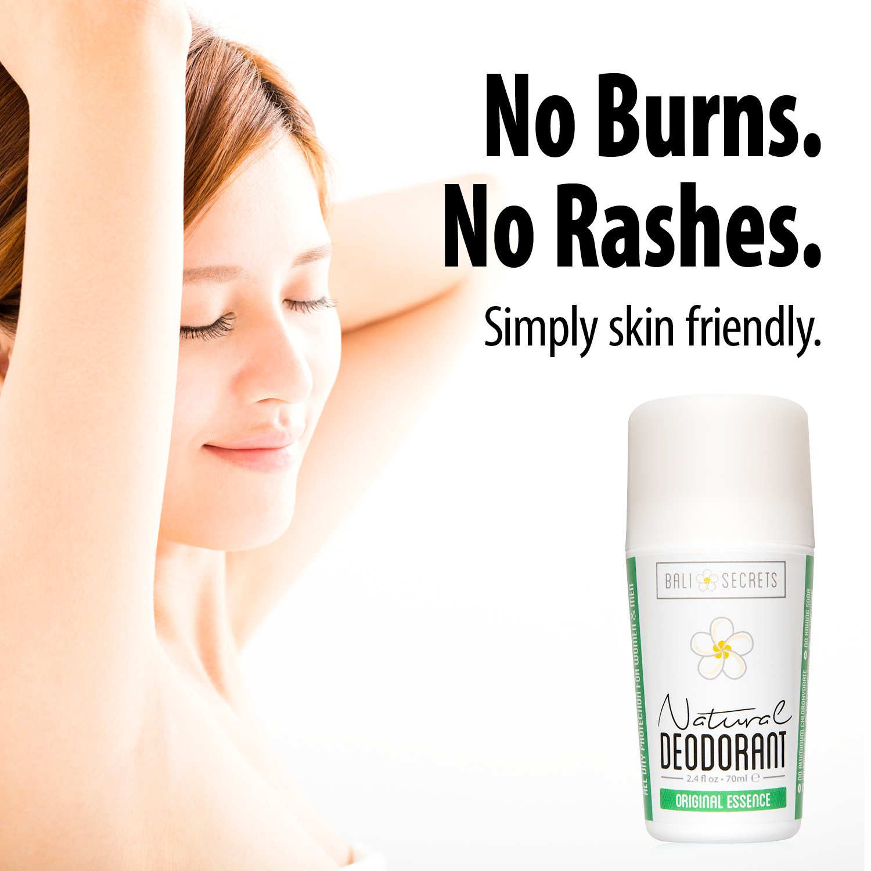 Bali Secrets Natural Deodorant – Organic & Vegan – For Women & Men – All Day Fresh – Strong & Reliable Protection – 2.4 fl.oz/75ml [Scent: Original Essence by Bali Secrets (Image #3)