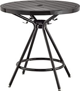 """Safco Products Indoor/Outdoor Table, 30"""" Round, Black"""