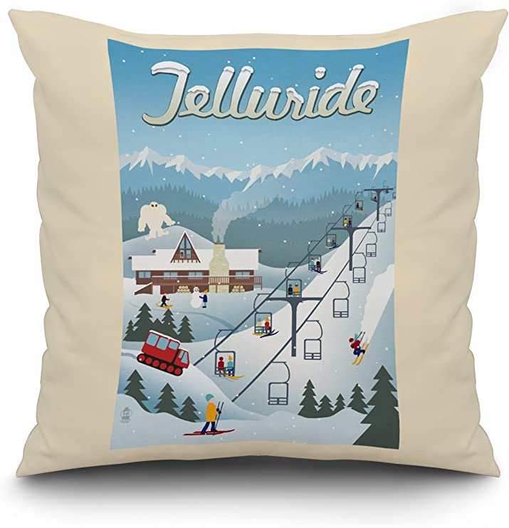 Colorado Ski Area Doormat *Great Gift* Telluride