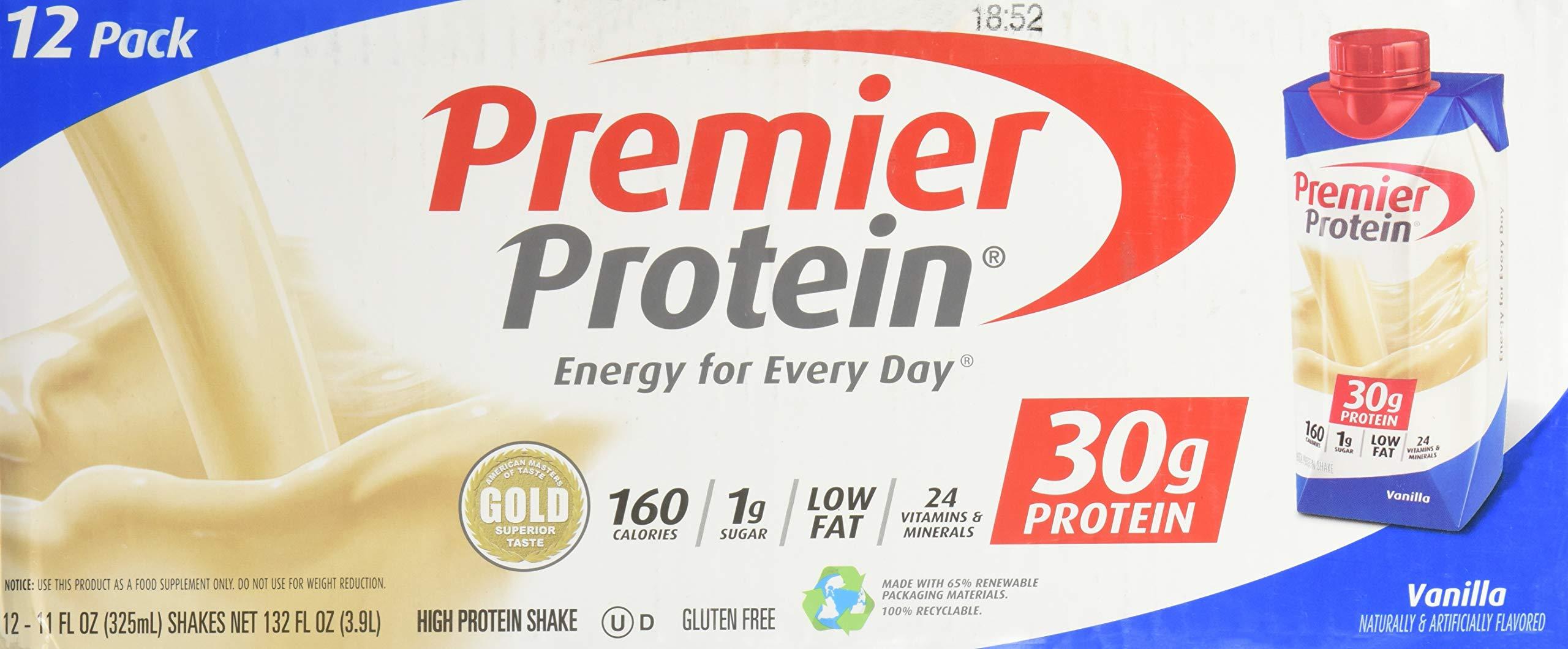 Premier Protein 30g Protein Shakes. (Vanilla (11 Fl. Oz, 12 Pack)) by Premier Protein