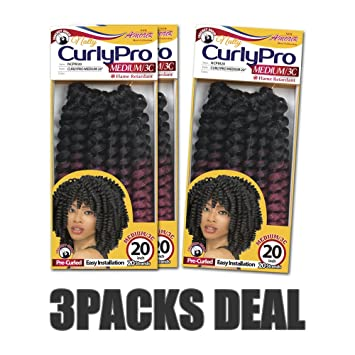 Amazon Com 3 Packs 6 Packs Deal New Amour Pre Curled Crochet