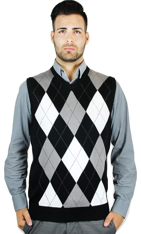 f7b5ce858 Blue Ocean Argyle Sweater Vest at Amazon Men s Clothing store