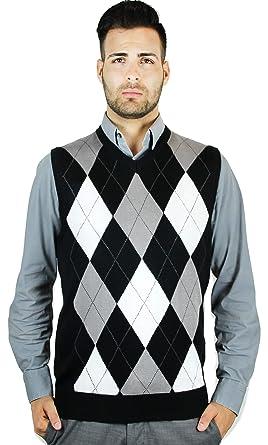 423c08a9b Blue Ocean Men s Argyle Sweater Vest at Amazon Men s Clothing store