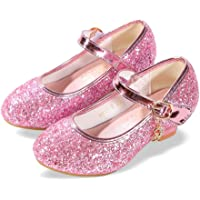 ALPHELIGANCE Girls Flats Sparkle Party Mary Jane Princess Dress Shoes