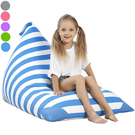 Astounding Aubliss Stuffed Animal Storage Bean Bag Chair Cover For Kids Girls And Adults Beanbag Cover For Stuffed Animals 23 Inch Long Ykk Zipper Premium Frankydiablos Diy Chair Ideas Frankydiabloscom
